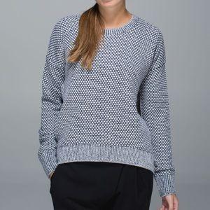 Lululemon Yogi Crew Sweater Inkwell / White